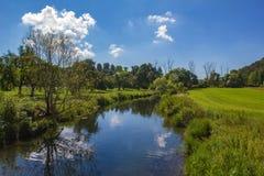 Natuurreservaat - de vallei van Eselsburger Tal royalty-vrije stock foto