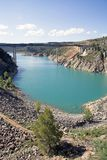 Natuurreservaat van de Kloven van Cabriel in Spanje Stock Fotografie