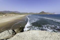 Natuurreservaat van het Eind van gata-Nijar ` s, Almeria Andalusia, Spanje Royalty-vrije Stock Foto's