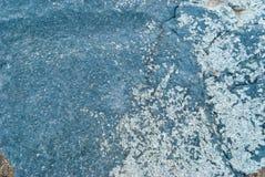 Natuursteenblauw, textuurruwheid, wijnoogst, abstractie, oude kunst, Royalty-vrije Stock Afbeeldingen