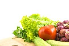 Natuurvoeding achtergrondgroenten Stock Afbeelding
