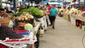 Natuurvoedingmarkt stock footage