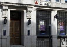 natwest的银行 免版税库存照片