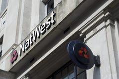 Natwest Bank Logo. Fleet Street Natwest Branch logo in the City of London Stock Image
