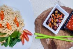 Natychmiastowi kluski z Azjatyckimi smakami Obraz Stock