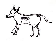 Natychmiastowy nakreślenie, pies ilustracja wektor
