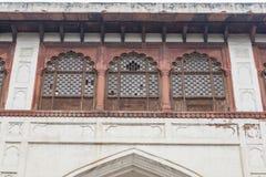 Naubat Khana también conocido como Nakkar Khana, la casa del tambor está en el complejo rojo del fuerte Imagenes de archivo
