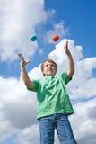 naucz się żonglować Obrazy Royalty Free