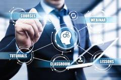 Nauczanie online edukaci Internetowej technologii Webinar kursów Online pojęcie Obrazy Royalty Free