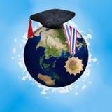 Nauczanie online, edukaci online pojęcie Elementy ten wizerunek meblują NASA zdjęcie stock
