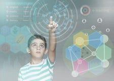 Nauczanie online i futurystyczny edukaci technologii pojęcie Fotografia Royalty Free