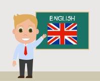Nauczyciel angielskiego wektor ilustracja wektor