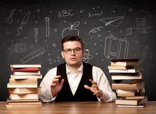 Nauczyciel iść z powrotem szkoła Zdjęcie Stock