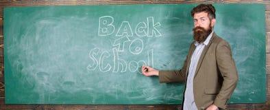 Nauczyciel namiętna akcydensowa zdolność dosięga out uczni Mężczyzna brodaty nauczyciel brakował jego pracę podczas wakacje tylna obrazy stock