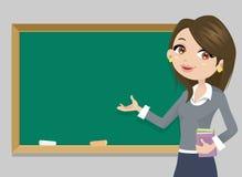 Nauczyciel przed chalkboard Obraz Stock