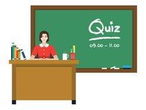Nauczyciel przed chalkboard z tekstem Fotografia Stock