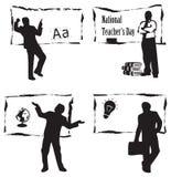 Nauczyciel przy blackboard Fotografia Stock