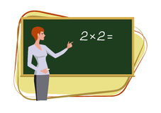 Nauczyciel przy blackboard Zdjęcia Royalty Free