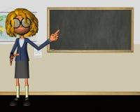 Nauczyciel sala lekcyjnej Chalkboard edukaci ilustracja ilustracja wektor