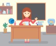 Nauczyciel w klasowym pokoju fotografia stock