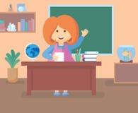 Nauczyciel w klasowym pokoju fotografia royalty free