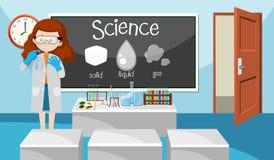 Nauczyciel w nauki klasie ilustracja wektor