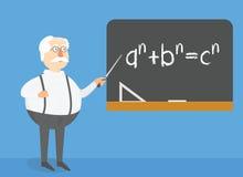 Nauczyciel wyjaśnia zadanie na blackboard Lekcyjna konceptualna ilustracja Ilustracja Wektor