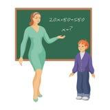 Nauczyciela i szkoły uczeń royalty ilustracja
