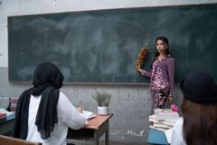 Nauczyciela nauczania uczeń Zdjęcie Royalty Free