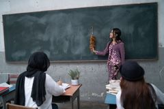 Nauczyciela nauczania uczeń Obraz Stock