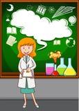 Nauczyciela nauk ścisłych nauczanie przy szkołą ilustracji