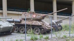 Nauders, Austria - , August 9, 2017. Soviet WW2 tank, model T34/ Royalty Free Stock Image