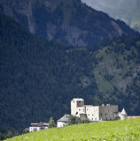 Nauders castle. View of the castle of Nauders in Tirol Stock Images