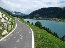 Nauders. Cycling in Austria in summer Royalty Free Stock Photo