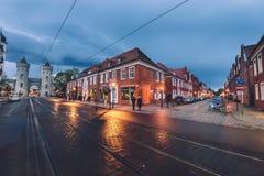Nauenpoorten en Nederlands District in Potsdam royalty-vrije stock afbeeldingen