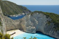 Naufrágio em Navagio Grécia Imagens de Stock Royalty Free