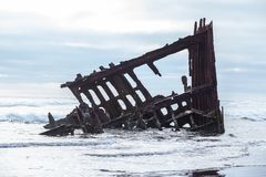 Naufrágio na costa de Astoria foto de stock royalty free