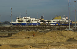 Naufragés atlantiques normands 30/12/2014 de Brindisi du feu Image libre de droits