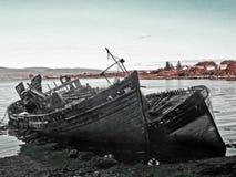 Naufraga la isla de reflexionan sobre Foto de archivo