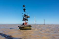 Naufrage à la rivière de Rio de la Plata Puerto Madero au crépuscule Sud A de Saling Photographie stock