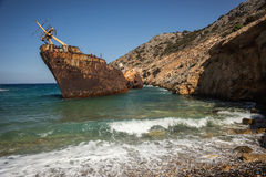 Naufrage, Amorgos, Cyclades, Grèce Photo libre de droits