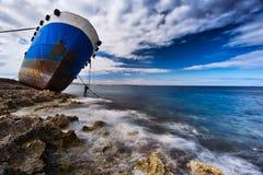 Naufrage ancré à Malte image libre de droits