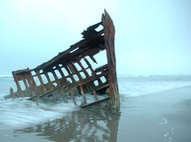 Naufrage de Peter Iredale photo libre de droits