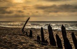 Naufrage de Trinculo au crépuscule Photographie stock libre de droits