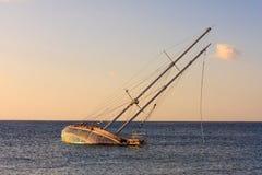 Naufrage de yacht image stock