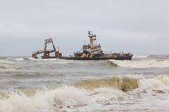 Naufrage de Zeila échoué le 25 août 2008 en Namibie Photo libre de droits