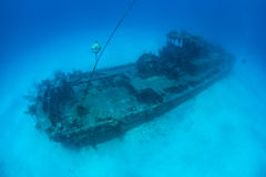 Naufrage en mer des Caraïbes Image libre de droits
