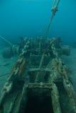 Naufrage solides solubles Thistlegorm de la Mer Rouge Image stock
