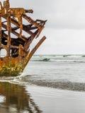 Naufrage sur la plage Photo libre de droits