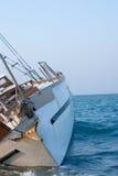 Naufragio del barco de vela Foto de archivo libre de regalías